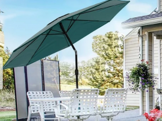 Boynton 10 foot Patio Umbrella with Solar Powered lED lights by Havenside Home Retail 103 49