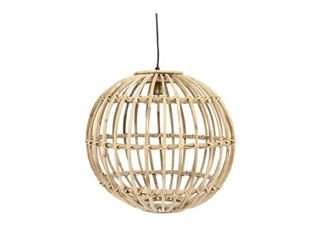 Round Handwoven Rattan Pendant light with 6  Cord  Hardwire Only    Natural  Retail 179 98