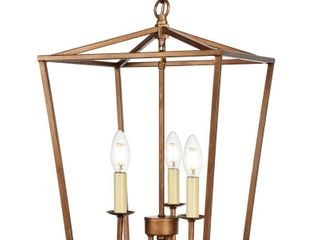 Maddox Collection Pendant lt 3 Vintage Gold Finish Retail 153 00