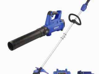 Kobalt 24v Max Brushless Cordless Blower   String Trimmer Combo Kit  tested works