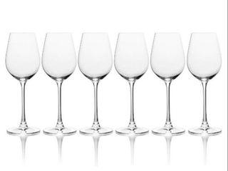 Mikasa set of 6 White Wine Glasses