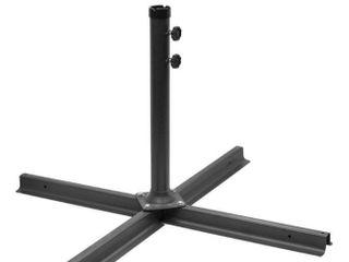 Gray Pro Heavy Duty Patio Umbrella Cross Brace Stand