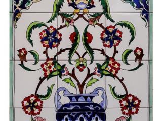 Flowery Vase 12 Tile Ceramic Wall Mosaic