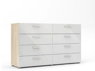 Porch   Den Angus Space saving Foiled Surface 8 drawer Double Dresser   Retail 241 99
