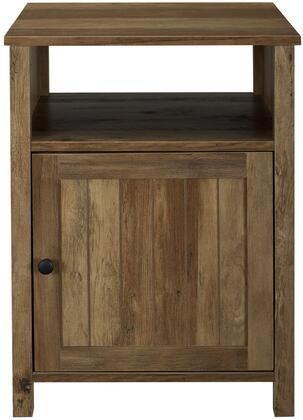 18  Grooved Door Side Table   Reclaimed Barnwood