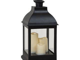 Sunjoy Classic Black Outdoor Battery Powered lantern