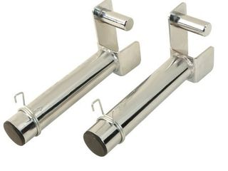 FITNESS REAlITY Extended 9  Olympic Weight Plate Holder Attachment for 2  x 2  Tube Power Cage