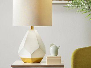 Urban Habitat Facet White  Gold Table lamp Damaged Shade