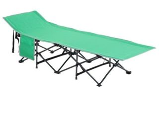 Outsunny Single Person Wide Folding Camping Cot