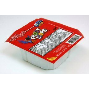 Case of Froot loops Cereal  0 75 Ounce Bowls