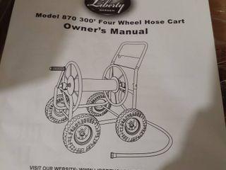 liberty Garden Four Wheel Hose Cart