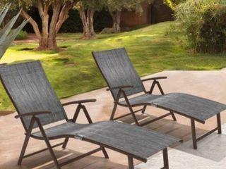 Goplus Goplus Set Of 2 Patio Folding Chairs Adjustable Reclining Indoor Outdoor
