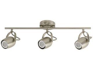 Samara 3 light Brushed Nickel Track lighting Kit  lED Bulbs Included