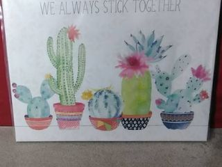 Noir Gallery Floral Cactus Succulents  We Always Stick Together   Art Print