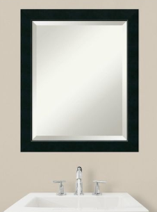 Bathroom Mirror Medium  Nero Black 19 x 23 inch   23 12 x 19 12 x 0 88 inches deep