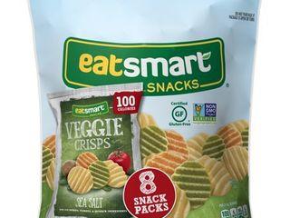 6 packages of 8 snack packs  EATSMART SNACKS  SEA SAlT GARDEN VEGGIE CRISPS  SEA SAlT
