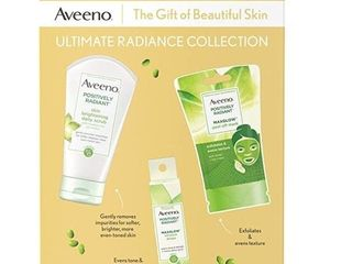 Aveeno Boxed Set Ultimate Radiance Collection Skincare With Brightening Daily