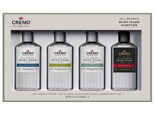 Cremo All Season Body Wash Sampler Giftset   4pc