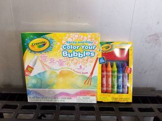 2 SETS OF CRAYOlA COlOR YOUR BUBBlES AND BODY WASH PEN SET