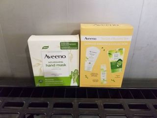 2 GIFT SETS OF AVEENO NOURISHING HAND MASK AND UlTIMATE RADIANCE COllECTION