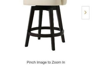 Mansfield Counter Height Ivory White Swivel Stool