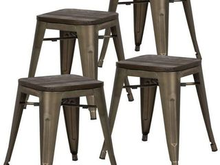 EdgeMod Trattoria 18 inch Table Stool in Bronze  Set of 4