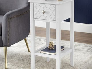 Raya End Table White   Buylateral