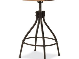 Worland Adjustable Swivel Stool Brown Black   Hillsdale Furniture