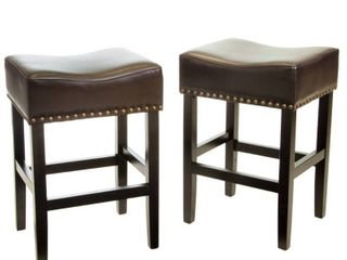 lisette 26 inch Brown Backless Counter Stool  Set of 2  by Christopher Knight Home Retail 167 49
