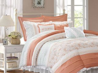 Home Essence Stella 9 Piece Cotton Percale Bedding Comforter Set