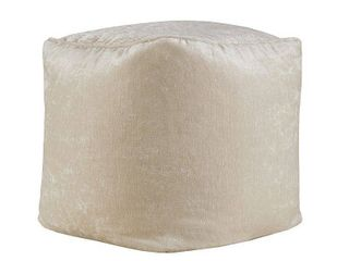 Home Essence Apartment Julie Chenille Solid Square Pouf