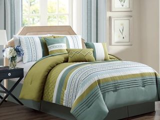 lux embroidery 7 piece comforter set