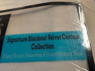 Exclusive Fabrics   Furnishings Signature Blackout Velvet 50  x 120  Curtain Panel