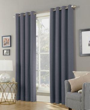 Sun Zero Baxter Theater Grade 100  Blackout Grommet Curtain Panel Denim 52 x63  Adult Unisex  Blue