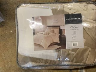 Natural lillian Embroidered Comforter Set King 8pc