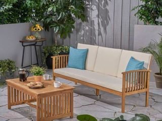 Carolina Outdoor Acacia Wood Coffee Table by Christopher Knight Home  Retail 461 99 TABlE ONlY