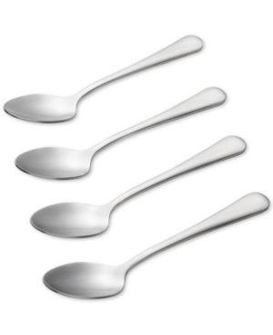 BonJour Coffee Accessories Stainless Steel Espresso   Demitasse Spoon Set  4 Piece