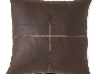 Faux leather Decorative Pillow by G H  Bass