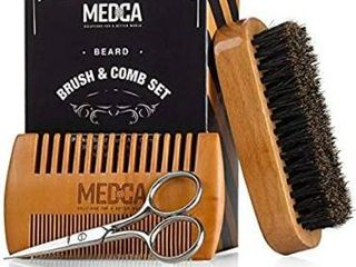 Wooden Beard and Comb Set for Men   Perfect for Beards Head Hair and Mustaches Men s Grooming Kit for Styling  Applying Beard Oils and Balms for Better Hair Care Growth and Impressive Hair Health