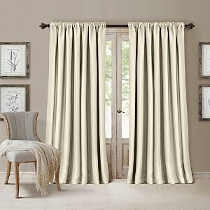 Elrene All Seasons Faux Silk 52  x 84  Blackout Curtain Panel set of 2
