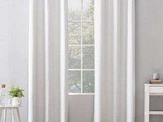 40 x84  Cyrus Thermal 100  Blackout Grommet Curtain Panel White   Sun Zero set of 2