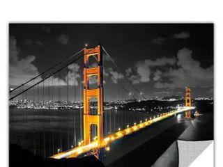 ArtAppealz Revolver Ocelot s  San Fransisco Bridge I  Removable Wall Art Mural