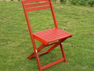 International Caravan Royal Fiji Acacia Folding Patio Chair  Set of 2