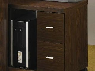 Porch   Den Keith 2 drawer File Cabinet Computer Stand   Brown damaged