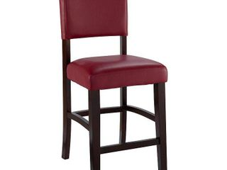 linon Monaco Bar Stool  30 inch Seat Height ox blood