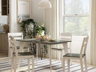 Furniture of America Jymi Transitional 5 piece Dining Table Set  Retail 375 99  small amount of damage on each corner or table