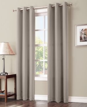 108 x40  Kenneth Energy Saving Blackout Grommet Top Curtain Panel Beige   Sun Zero set of 2