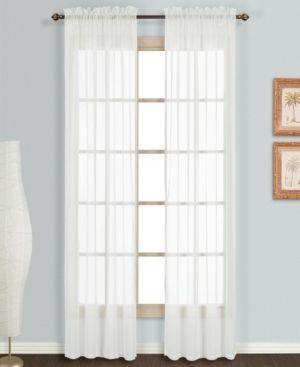 MONTE CARlO 118  x 54  WINDOW CURTAIN PANEl PAIR WHITE set of 2