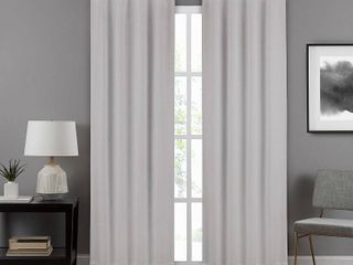 Eclipse Draftstopper Summit Solid Window Curtain Panel 40 x84  set of 2