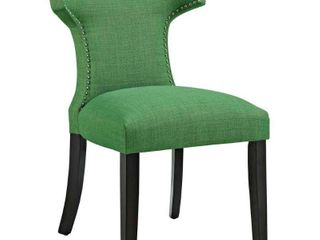 Modway Curve Upholstered Dining Side Chair  Green